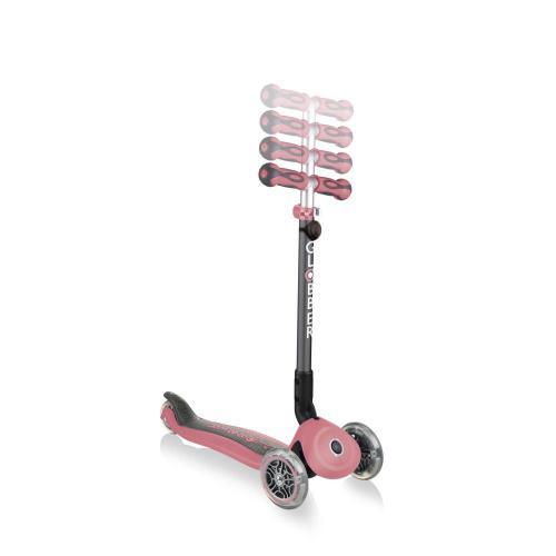 Самокат Globber Go Up Deluxe Play Lights, пастельно-розовый