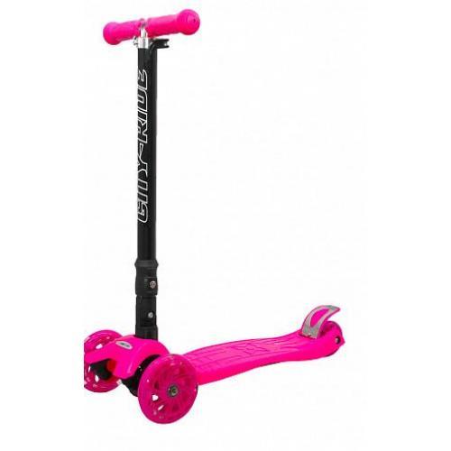 Трехколесный складной самокат City-Ride XD5, розовый