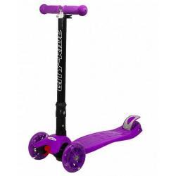 Трехколесный складной самокат City-Ride XD5, фиолетовый