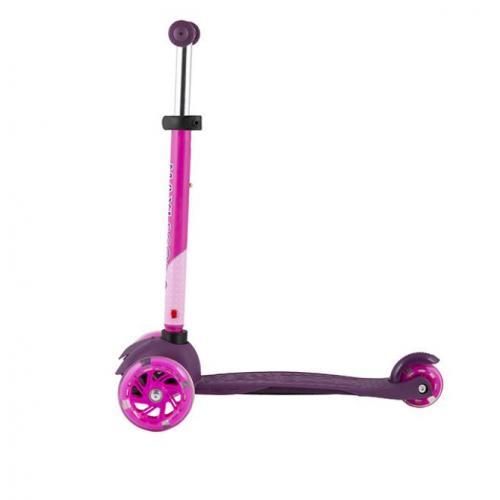 Самокат Baby 2021, со светящимися колесами, цвет фиолетовый