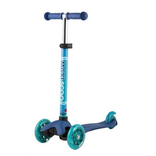 Самокат Baby 2021, со светящимися колесами, цвет синий