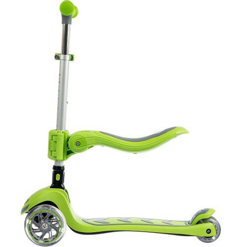Самокат для детей Kick'n'roll, складной, с сиденьем (зеленый)