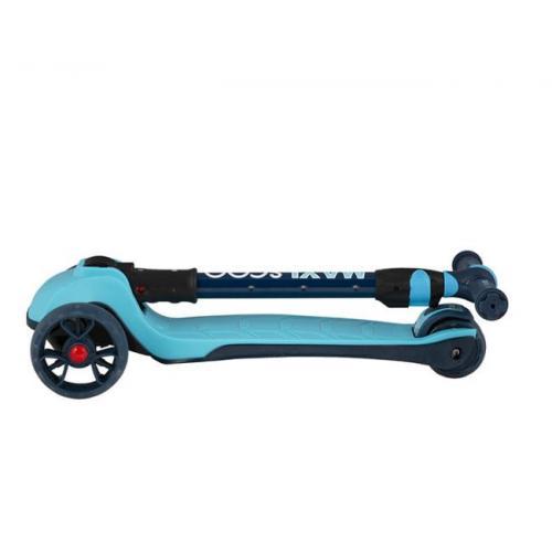 Самокат трехколесный Junior Plus 2021, со светящимися колесами, голубой