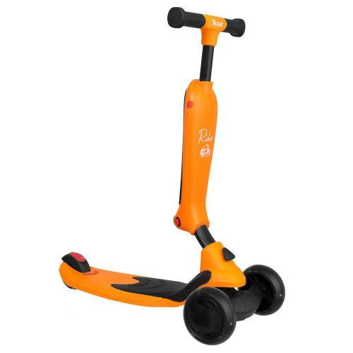 Самокат-беговел Rider, со светящимися колесами, цвет оранжевый