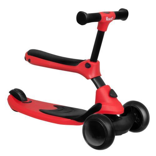 Самокат-беговел Rider, со светящимися колесами, цвет красный