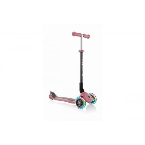 Самокат Globber Primo Foldable Lights, пастельно-розовый