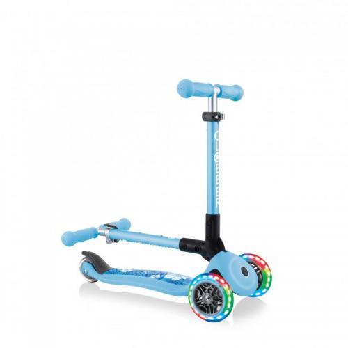 Самокат Globber Junior Foldable Fantasy Lights, пастельно-голубой