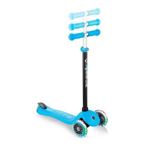Самокат Globber Go Up Sporty Plus Lights, голубой