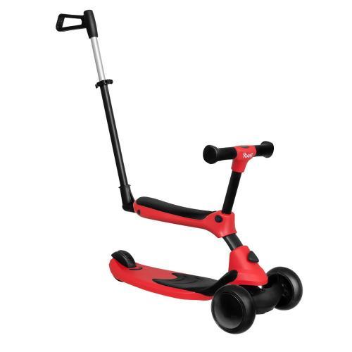 Самокат-беговел Rider Plus, со светящимися колесами, цвет красный
