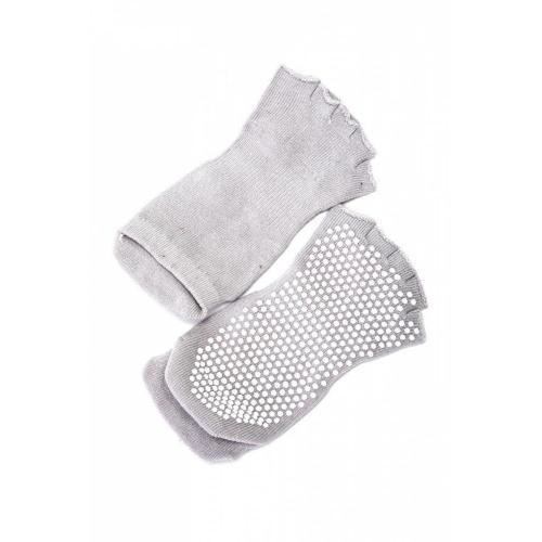 Носки противоскользящие Bradex, для занятий йогой, с открытыми пальцами