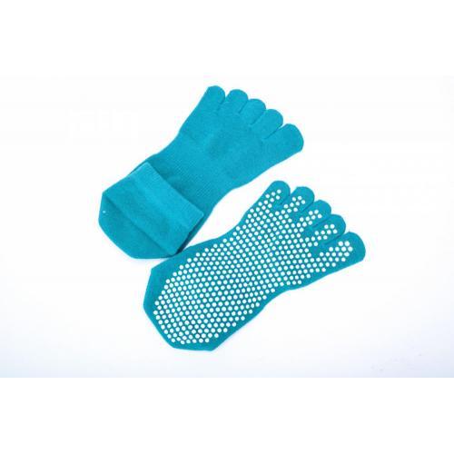 Носки противоскользящие Bradex, для занятий йогой закрытые, размер 35-41, цвет бирюзовый