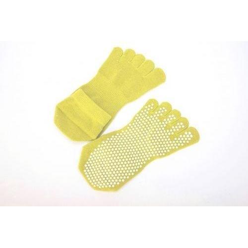Носки противоскользящие Bradex, для занятий йогой закрытые, размер 35-41, цвет жёлтый