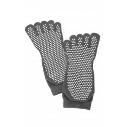 Носки противоскользящие Bradex, для занятий йогой закрытые, размер 35-41, цвет серый