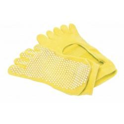 Носки противоскользящие Bradex, для занятий йогой, размер 35-41, цвет жёлтый