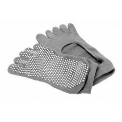 Носки противоскользящие Bradex, для занятий йогой, размер 35-41, цвет серый