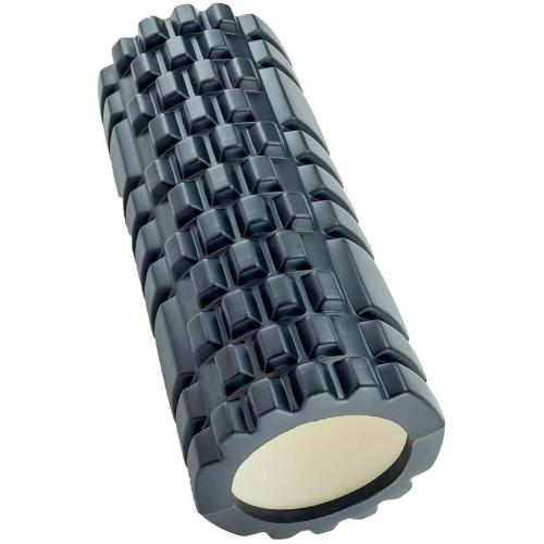 Валик спортивный для фитнеса, 33 см, (черный)