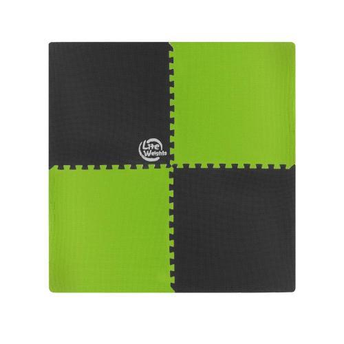 Покрытие защитное под тренажеры (коврик для фитнеса) Lite Weights, черный, салатовый
