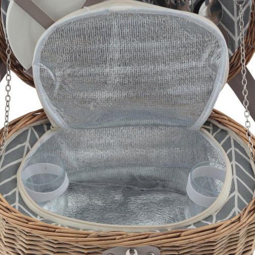 Корзина для пикника на 2 персоны с холодильным отделением, 40x30x20 см