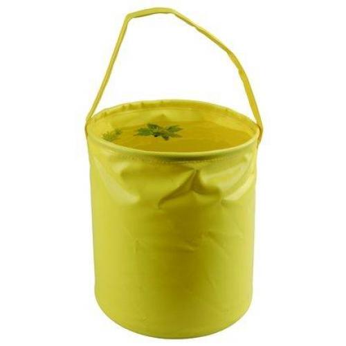 Ведро складное AceCamp Laminated Folding Bucket, желтое, 10 л