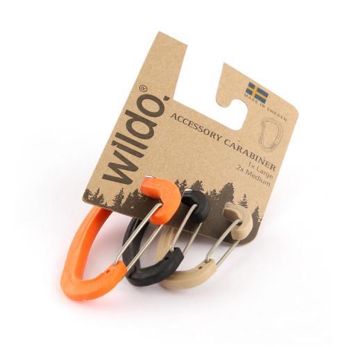 Карабины для аксессуаров в наборе, цвет оранжевый, 3 штуки