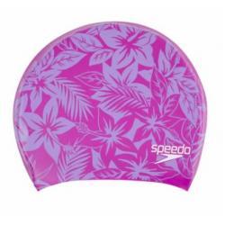 Шапочка для плавания Speedo Long Hair Cap Printed, фиолетовый