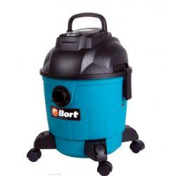Строительный пылесос Bort BSS-1218, 1200 Вт, цвет синий