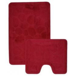 Набор ковриков для ванной Shahintex ЭКО, 60х90 см и 60х50 см, бордовый