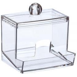 Контейнер для ватных палочек М-Пластика, прозрачный