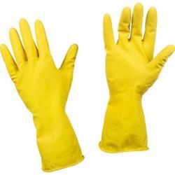 Перчатки хозяйственные латексные Эконом, желтые, размер XL