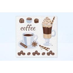 Салфетки бумажные Чай&Кофе, 24х24 см, 100 штук