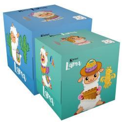 Салфетки бумажные с рисунком World Cart Лама (синий+бирюзовый), 2 штуки