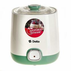 Йогуртница электрическая Delta, 20 Вт, цвет белый, зеленый, артикул DL-8400