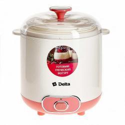 Йогуртница электрическая Delta, 20 Вт, цвет белый, розовый, артикул DL-8401