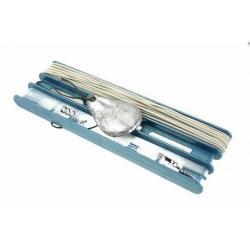 Удочка донная оснащенная, резина 1,5 мм/10 м, леска 50 м, крючки 5 штук, груз