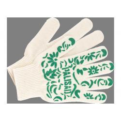 Перчатки садовые Летний сад х/б, ПВХ узор, 10 класс