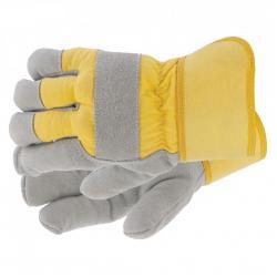 Перчатки спилковые, комбинированные, усиленные, утолщенные, размер XL