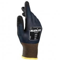 Перчатки текстильные Mapa Ultrane 500, нитриловое покрытие (облив), маслостойкие, размер 10 (XL), черные