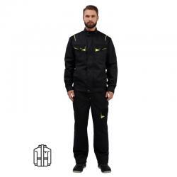 Куртка Мужская л24-КУ, темно-серая, размер 52-54, рост 182-188