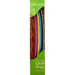 Цветная бумага для квиллинга, 3 мм, 250 полос, 10 цветов