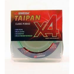 Леска плетеная SWD Taipan Classic PE Braid X4, 0,18 мм, 135 м (10,45 кг, light-green)