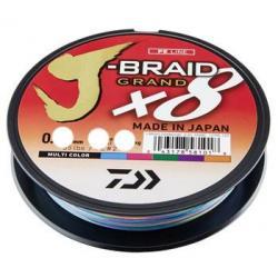 Леска плетеная Daiwa J-Braid Grand X8, 0,22 мм, 135 м (Multicolor)