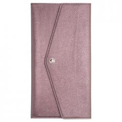 Органайзер-папка для путешествий Наппа. Коричневый металлик, 227x110 мм