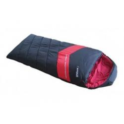 Спальный мешок Campus Adventure 500 SQ, black/red, левый