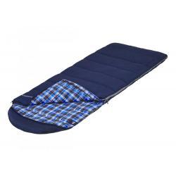 Спальный мешок Jungle Camp Glasgow XL, широкий, с фланелью, левая молния, цвет синий