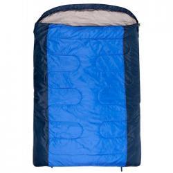 Спальный мешок Jungle Camp. Verona Double, двухместный, две молнии, цвет синий
