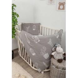Комплект в кроватку Техас, 3 предмета, цвет серый с рисунком, арт. 321