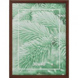 Рамка деревянная, профиль №1, 30х40 см, коричневая