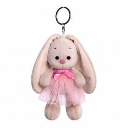 Брелок Зайка Ми, в розовой юбке и с бантиком, 14 см