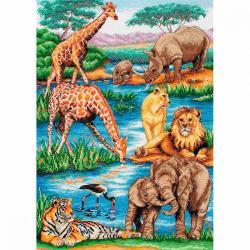 Набор для вышивания MAIA Животные Африки, 29x42 см (арт. 5678000-01212)