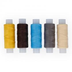 Нитки армированные швейные, 5 катушек по 150 м, арт. 45 ЛЛ